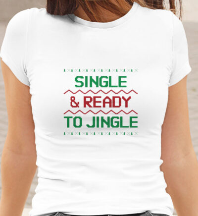 tricou Ready to jingle alb dama