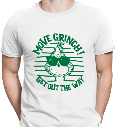 Tricou alb barbat Move Grinch Get out
